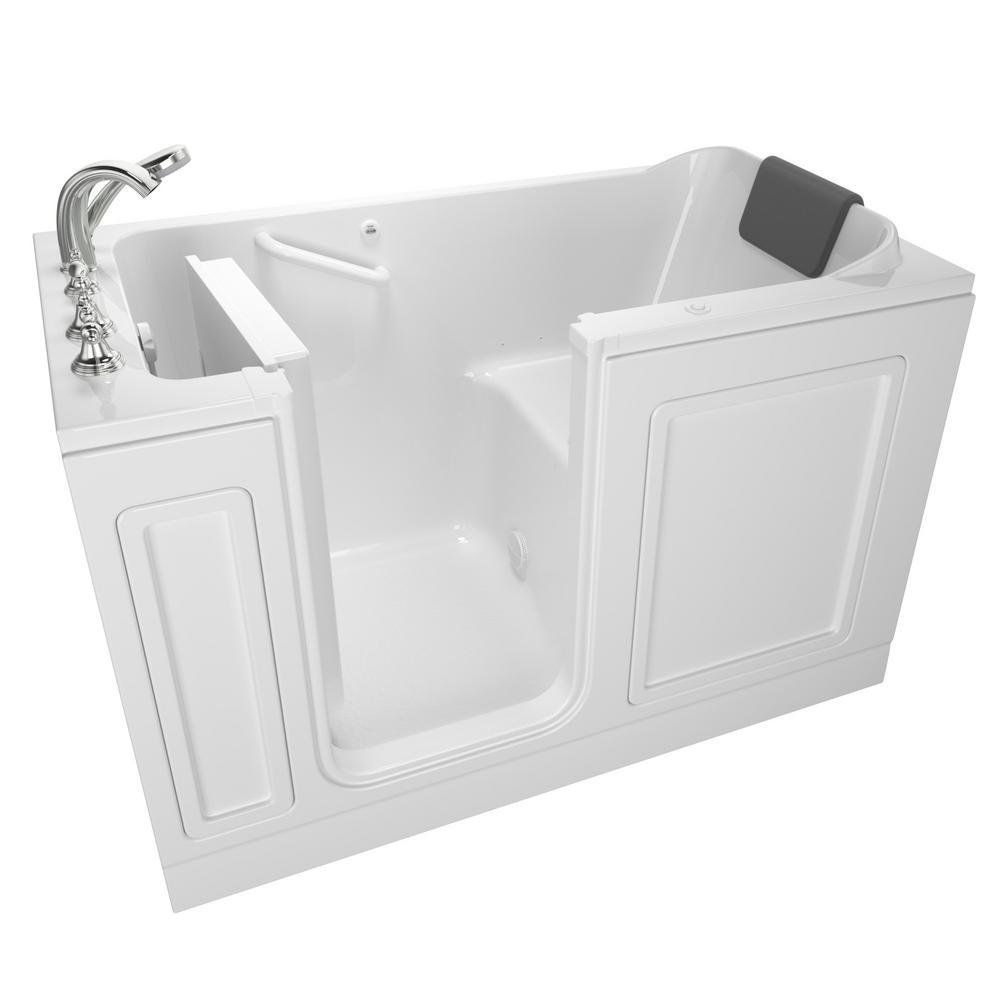 Acrylic Luxury Series 4.9 ft. Walk-In Air Bathtub in White