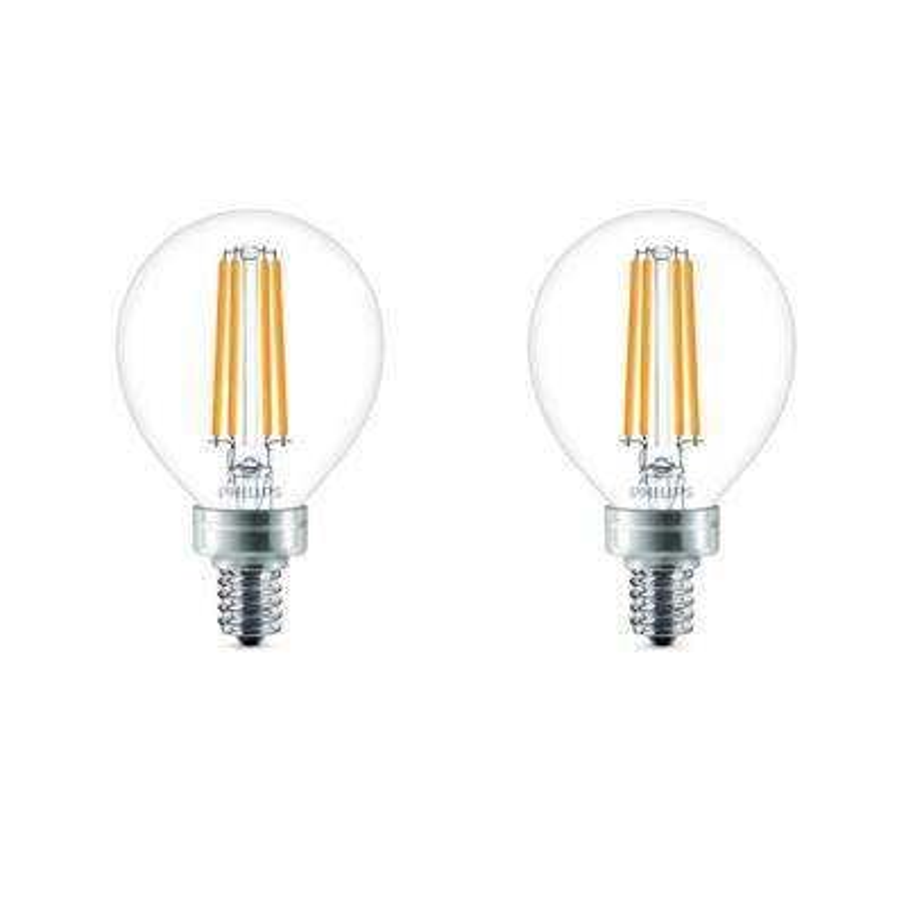 60-Watt Equivalent G16.5 Dimmable LED Light Bulb Soft White Globe (2-Pack)