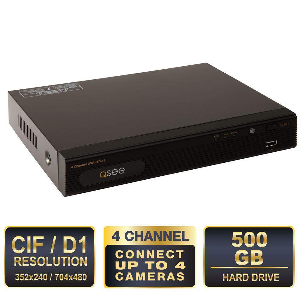 Q-SEE Lite Series 4 Channel 500 GB Hard Drive DVR with Remote Viewing-DISCONTINUED