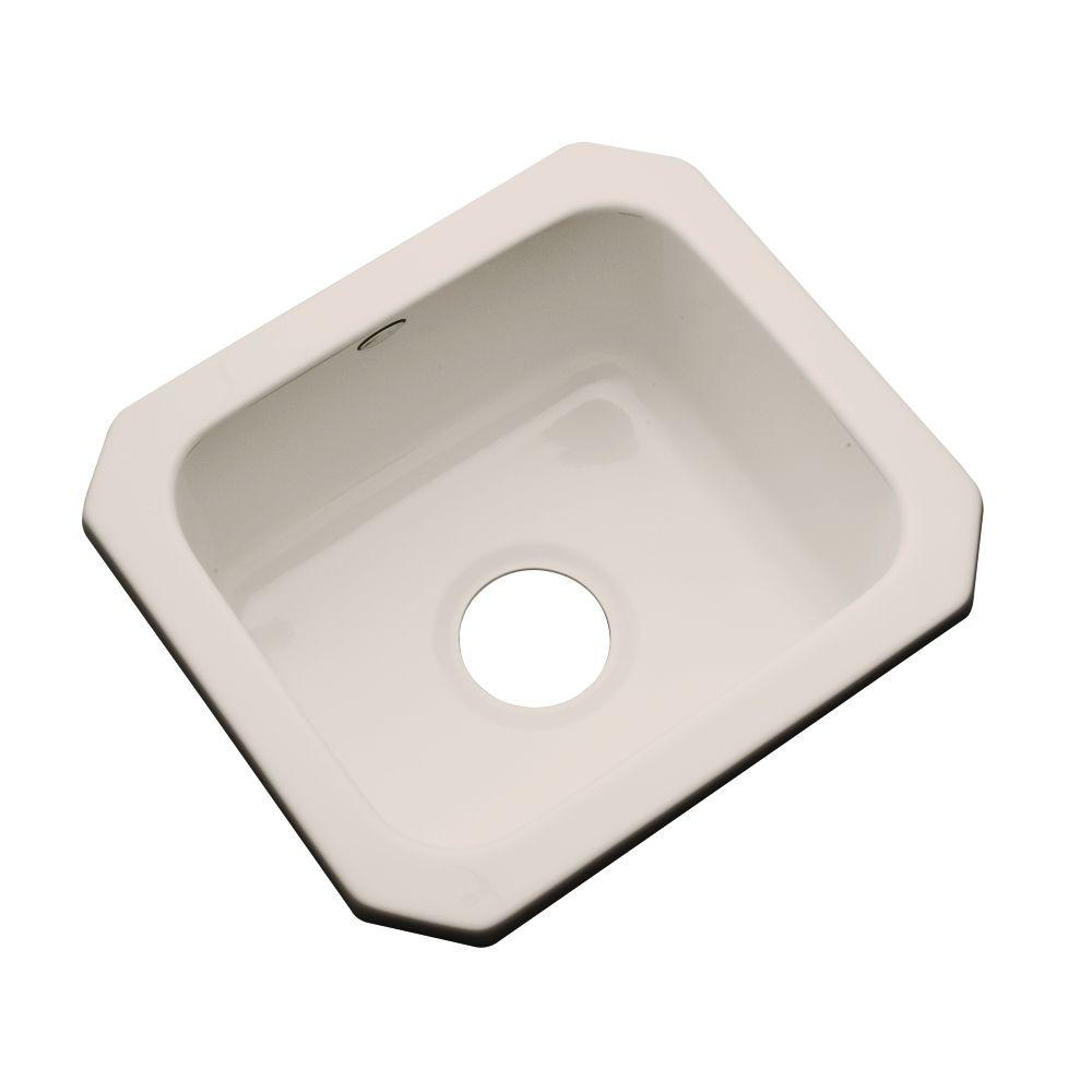 Thermocast Manchester Undermount Acrylic 16 in. 0-Hole Single Bowl Entertainment Sink in Shell