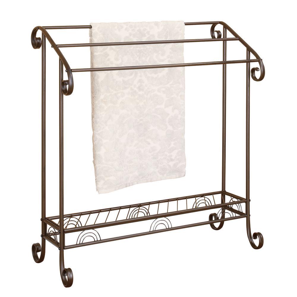 3-Tier Towel Rack Dark Bronze