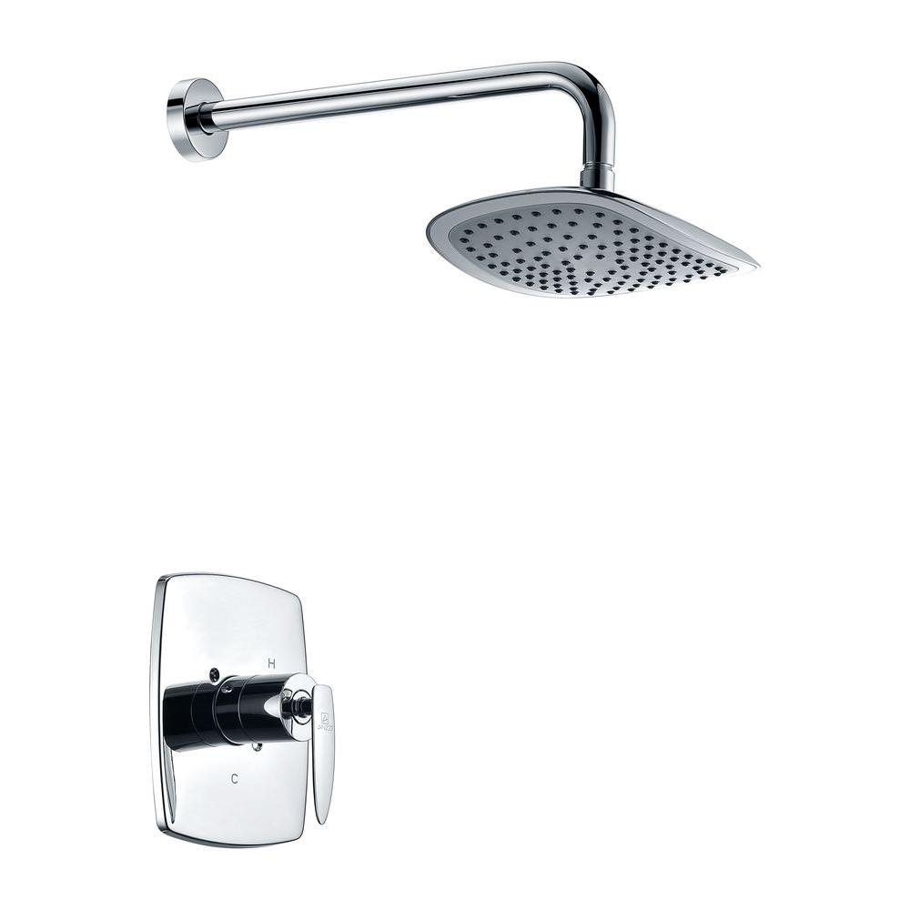 ANZZI Thyme 1-Spray 16.3 in. Fixed Showerhead in Polished Chrome (Valve Included) was $219.99 now $153.99 (30.0% off)