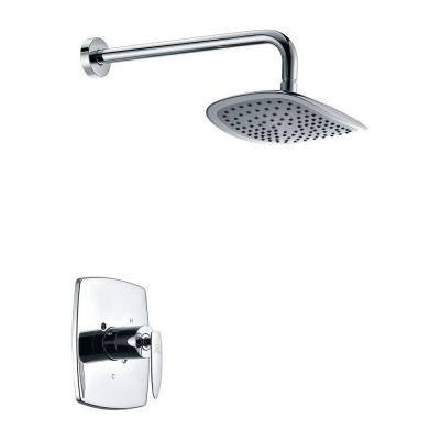 Thyme 1-Spray 16.3 in. Fixed Showerhead in Polished Chrome (Valve Included)