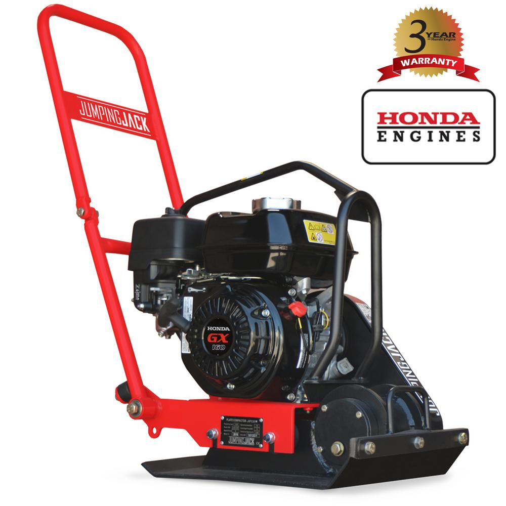 Tomahawk Power 5 5 HP Honda Vibratory Plate Compactor for Soil Compaction