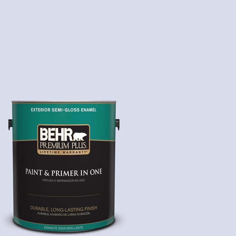 1-gal. #610A-2 Crocus Petal Semi-Gloss Enamel Exterior Paint