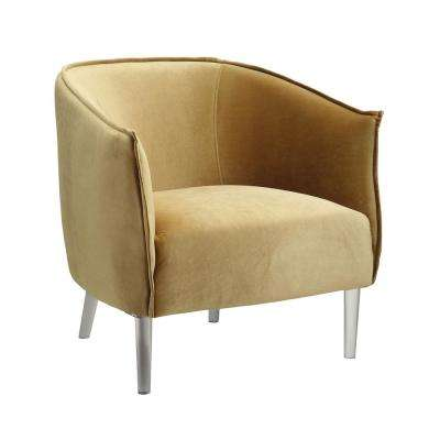 Donostia Contemporary Yellow Finish Accent Chair
