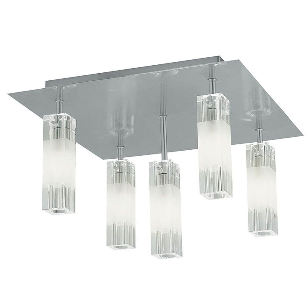 Eglo Alessa 5-Light Ceiling Matte Nickel Light-DISCONTINUED