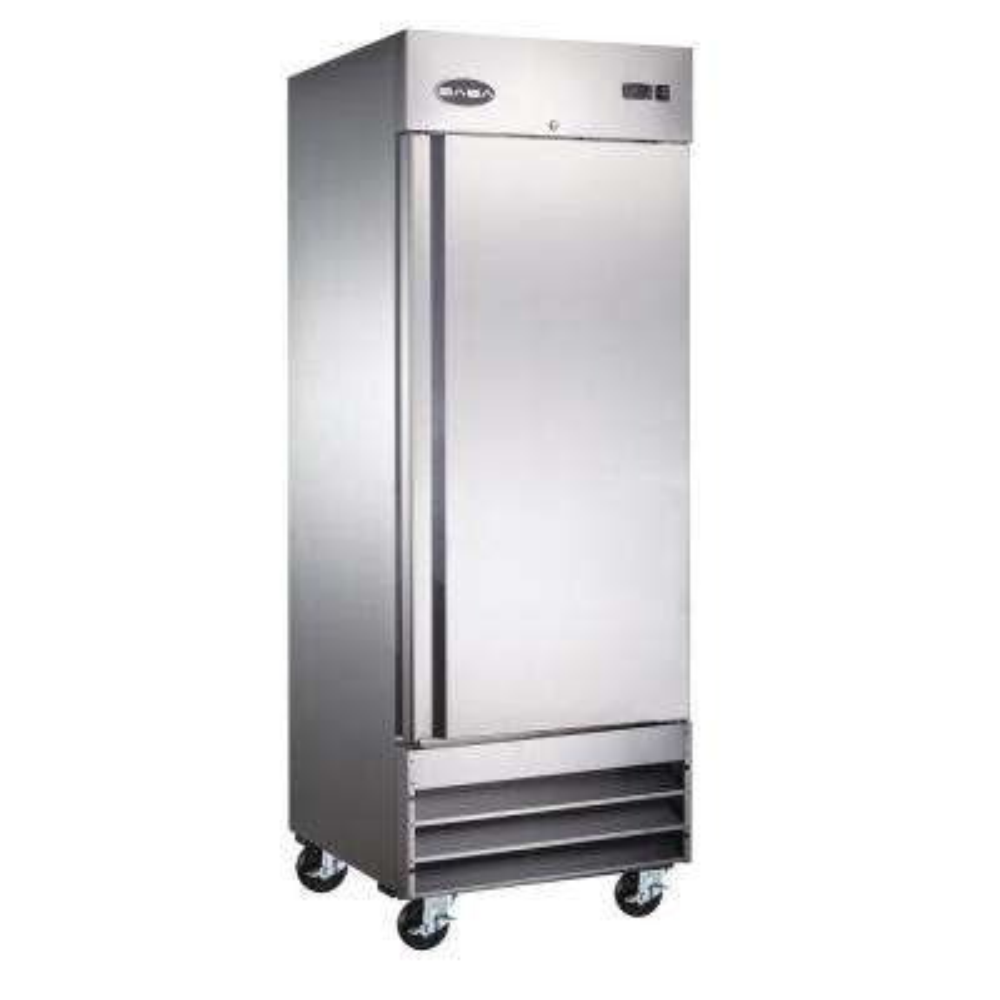 29 in. W 23 cu. ft. Commercial One Door Reach-In Refrigerator in Stainless Steel