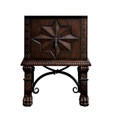 Balmoral 26 in. W x 22.75 in. D Bath Vanity Cabinet Only in Antique Walnut
