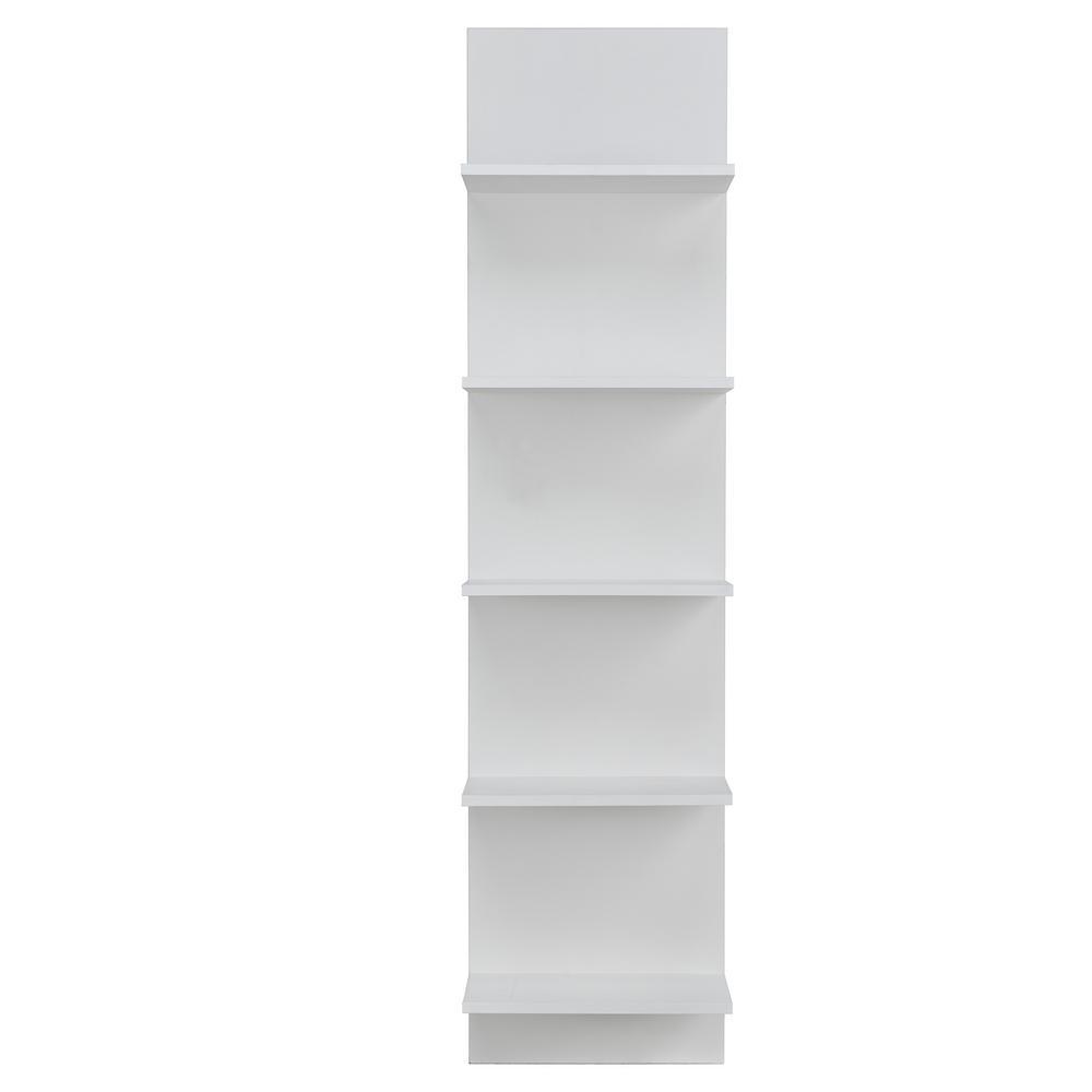 47.25 in. H White MDF 5-Tier Decorative Wall Shelf