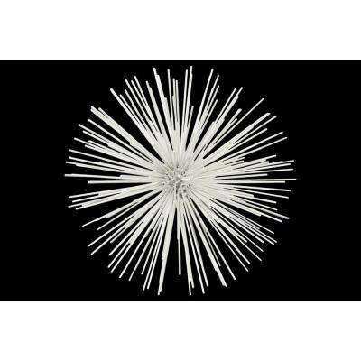 12.75 in. H Sculpture Decorative Sculpture in White Coated