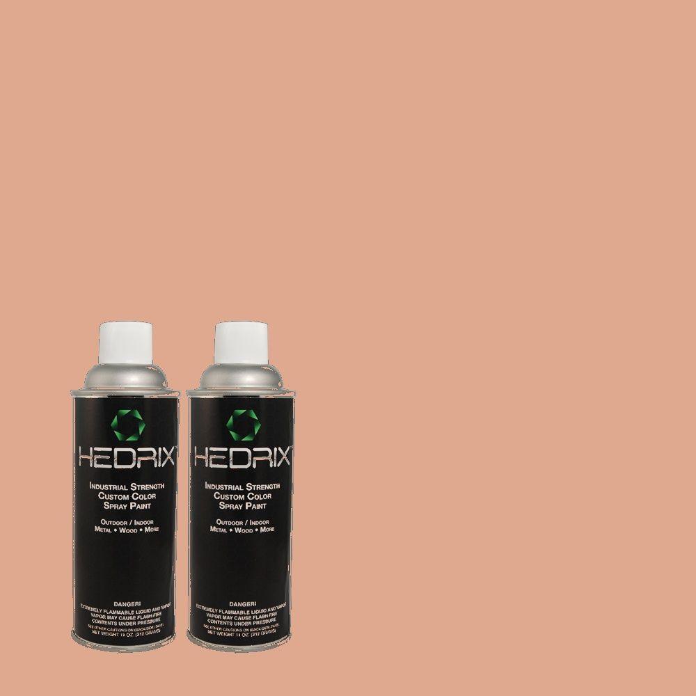 Hedrix 11 oz. Match of PMD-70 Cottage Rose Semi-Gloss Custom Spray Paint (2-Pack)