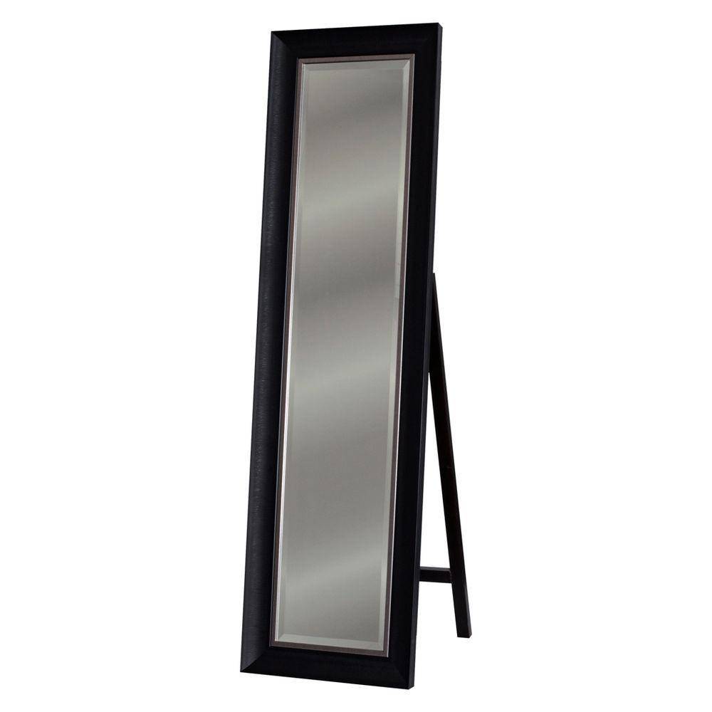 Deco Mirror 18 in. x 64 in. Alderton Floor Mirror in Charcoal black