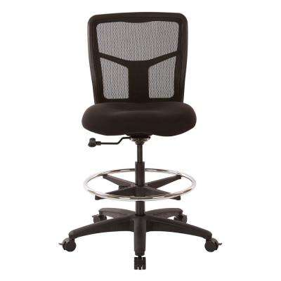 ProGrid Mesh Drafting Chair with Coal FreeFlex Fabric, Adjustable Footring and Dual Wheel Locking Carpet Casters