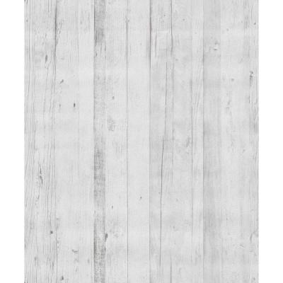 Faux Driftwood White Rustica Wallpaper