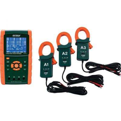 1200A 3-Phase Power Analyzer and Data Logger Kit with NIST