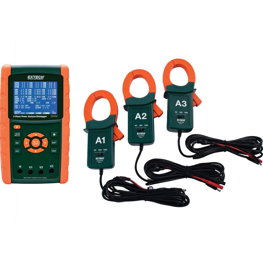 1200 Amp 3-Phase Power Analyzer/Data Logger Kit