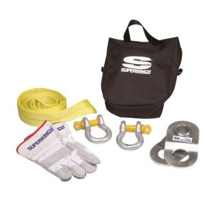 Superwinch Winch Accessory Kit with 20,000 lb. HD Pulley Block, Bow Shackles, Nylon Tree Saver Strap, Gloves... by Superwh