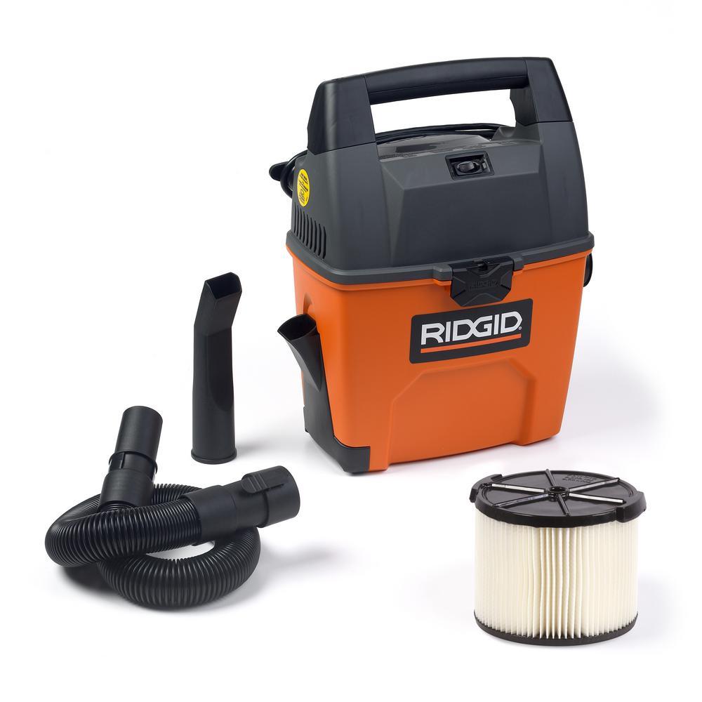 47fd5ee88f887 RIDGID 3 Gal. 3.5-Peak HP Portable Pro Wet/Dry Vacuum-WD3050 - The ...
