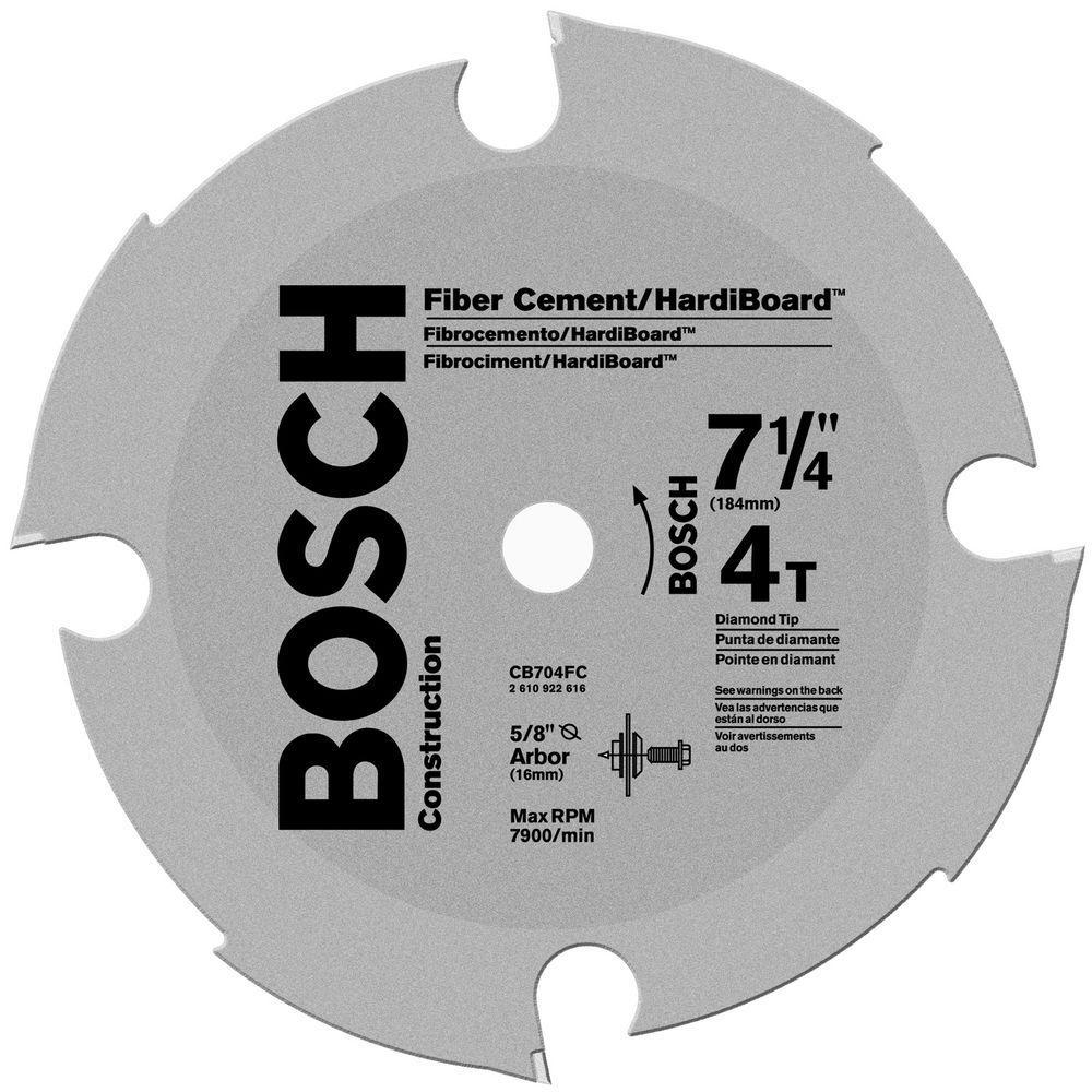 Bosch 7-1/4 in 4-Tooth Fiber Cement Circular Saw Blade