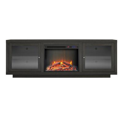 Young Lane 71.5 in. Electric Fireplace TV Stand for TVs up to 75 in. in Espresso