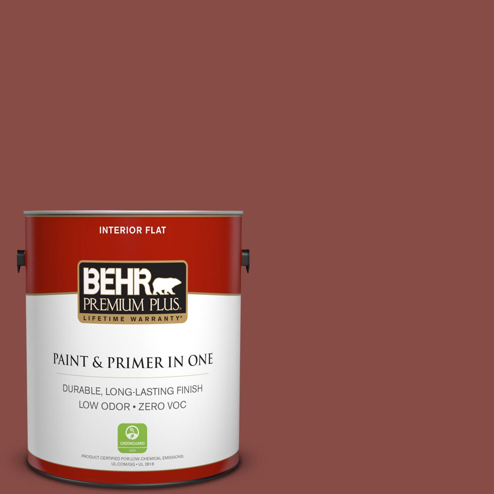 BEHR Premium Plus 1-gal. #S150-6 Spiced Berry Flat Interior Paint