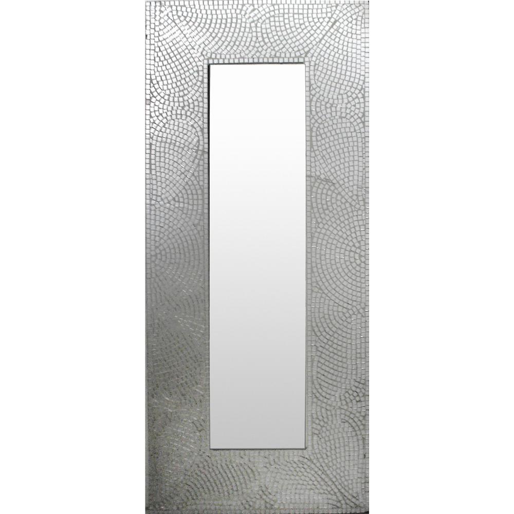 Strelley 47 in. x 21 in. Modern Framed Mirror