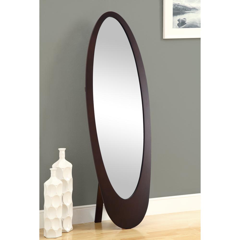 In X In Cappuccino Contemporary Oval Cheval MirrorI - Contemporary oval mirrors