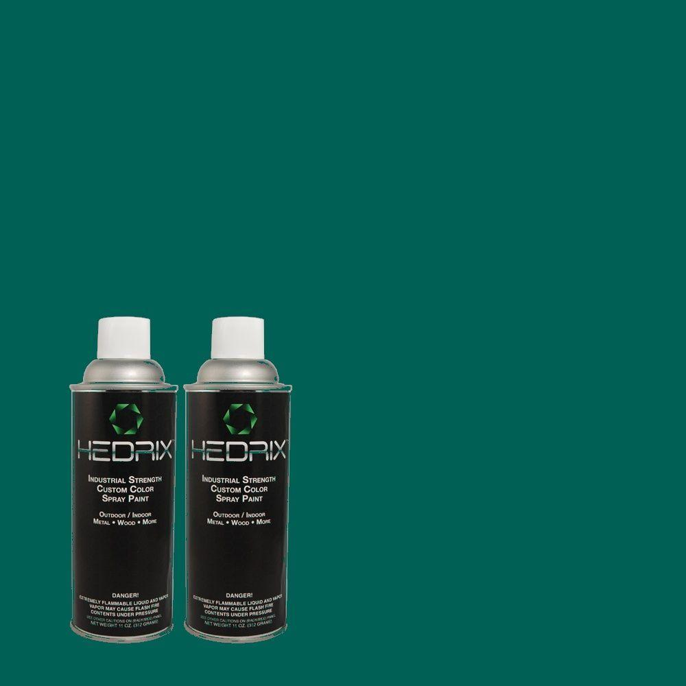 Hedrix 11 oz. Match of S-H-500 Realm Flat Custom Spray Paint (2-Pack)
