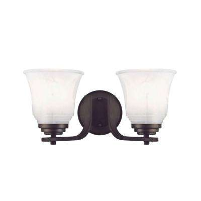 Wensley 2-Light Oil Rubbed Bronze Wall Fixture