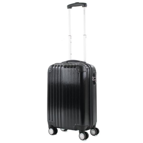ac116330314ad4 Melrose Black 20 in. Carry-On Polycarbonate Expandable Spinner Luggage with TSA  Lock and Corner Guards. American Green Travel