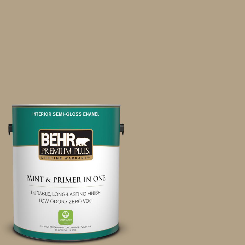 BEHR Premium Plus 1-gal. #ECC-26-3 Cactus Hill Zero VOC Semi-Gloss Enamel Interior Paint