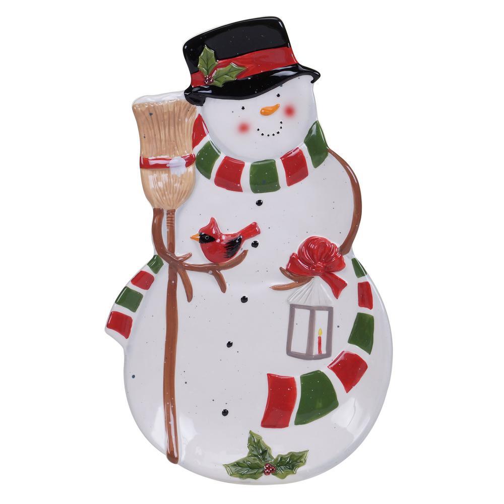 Snowman's Sleigh 3-D Platter