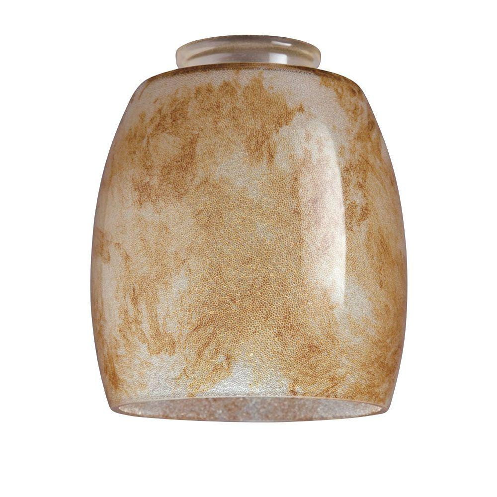5-1/4 in. Handblown Garden Moss Shade with 2-1/4 in. Fitter and