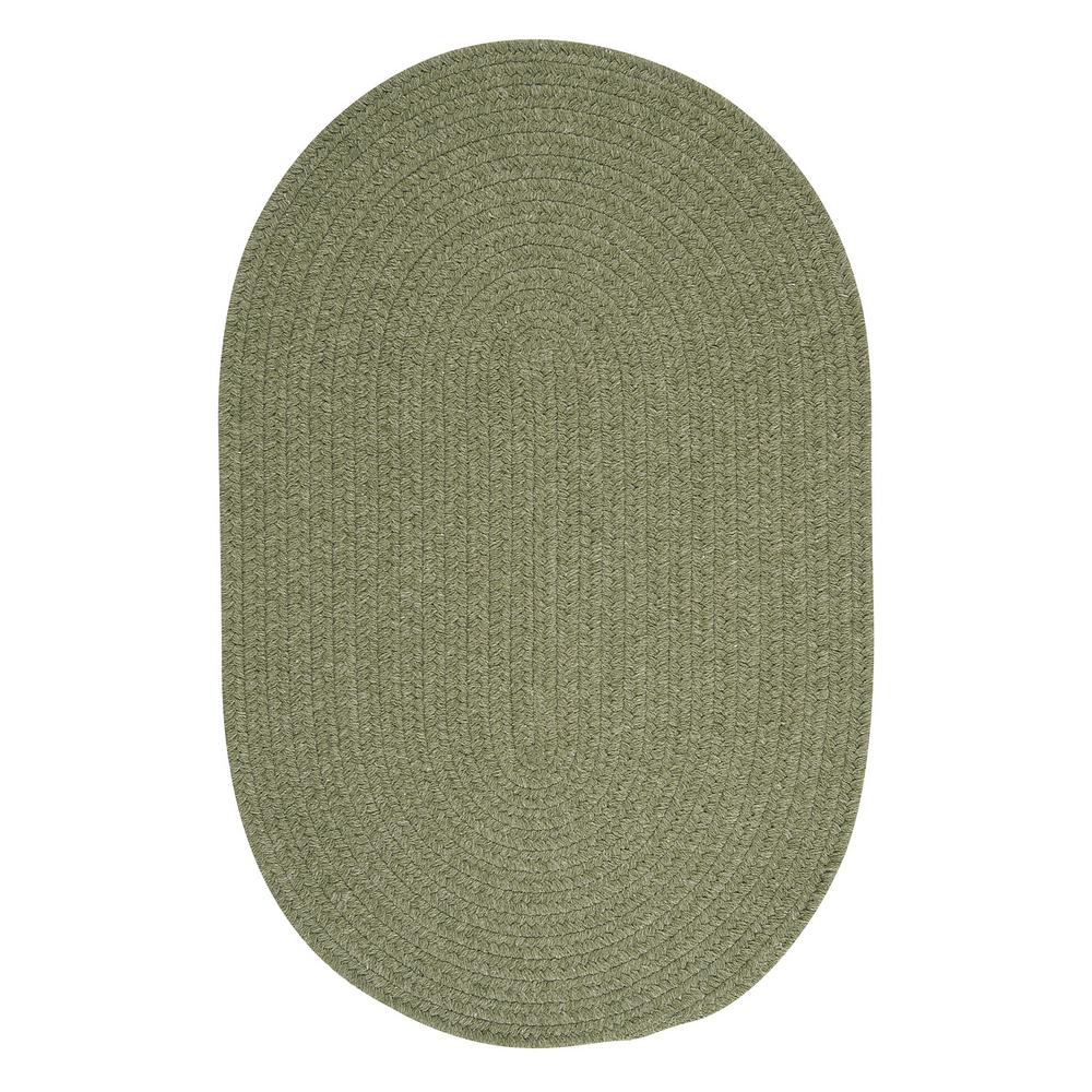 Edward Light Green 2 ft. x 3 ft. Braided Area Rug