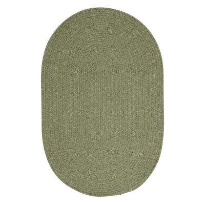 Edward Light Green 8 ft. x 8 ft. Round Braided Area Rug
