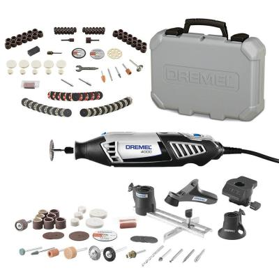 4000 Series 1.6 Amp Variable Speed Corded Rotary Tool Kit + Rotary Tool Accessory Kit (130-Piece)