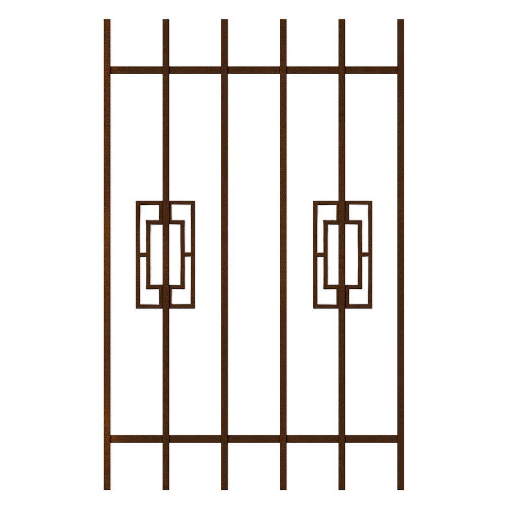 Unique Home Designs Modern Trifecta 30 in. x 48 in. Copper 6-Bar Window Guard-DISCONTINUED