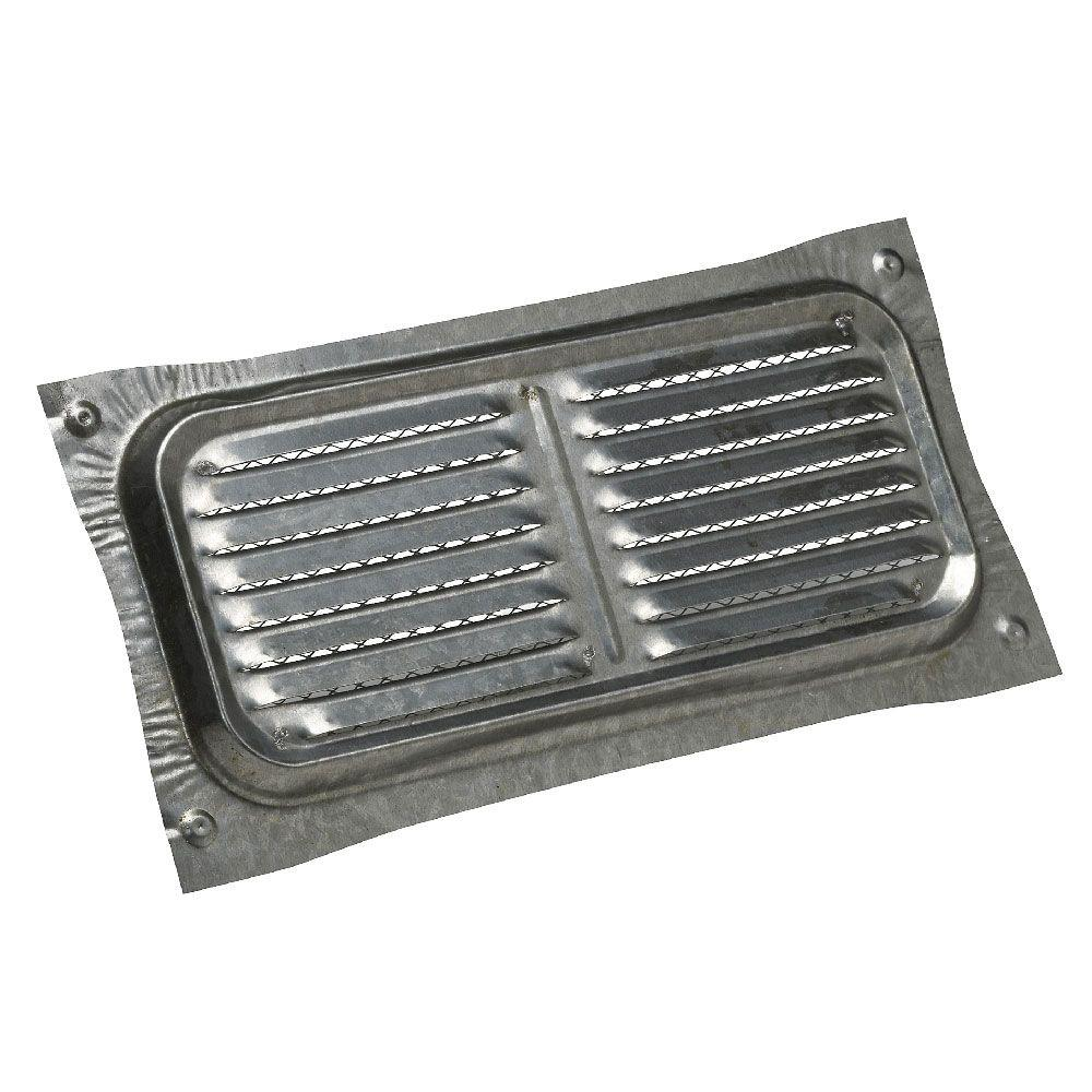 14 in. x 6 in. Bonderized Steel Stamped Louvered Foundation Vent