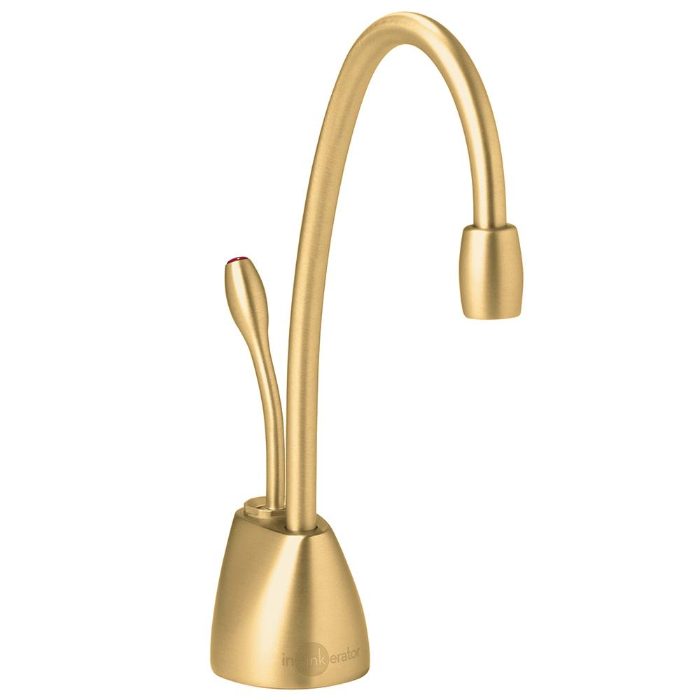 Insinkerator Indulge Contemporary Single Handle Instant Hot Water Dispenser Faucet In Brushed Bronze