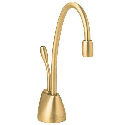 Indulge Contemporary Single-Handle Instant Hot Water Dispenser Faucet in Brushed Bronze