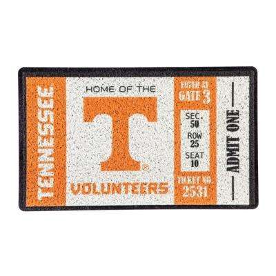 University of Tennessee 30 in. x 18 in. Vinyl Indoor/Outdoor Turf Floor Mat
