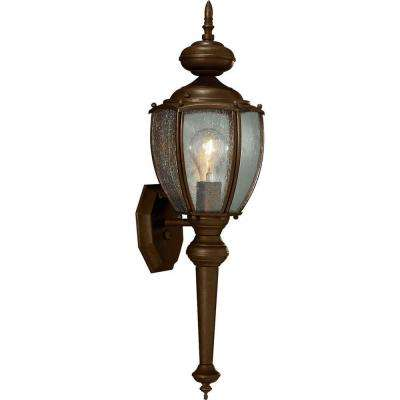 Roman Coach Collection 1-Light 19.25 in. Outdoor Antique Bronze Wall Lantern Sconce