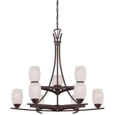 City Club 9-Light Dark Brushed Bronze Chandelier