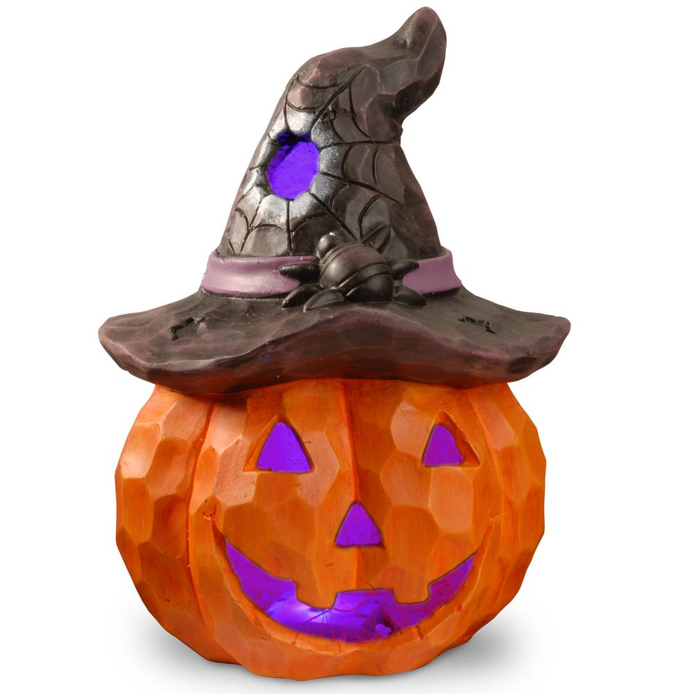 14 in. Lighted Halloween Jack-O-Lantern