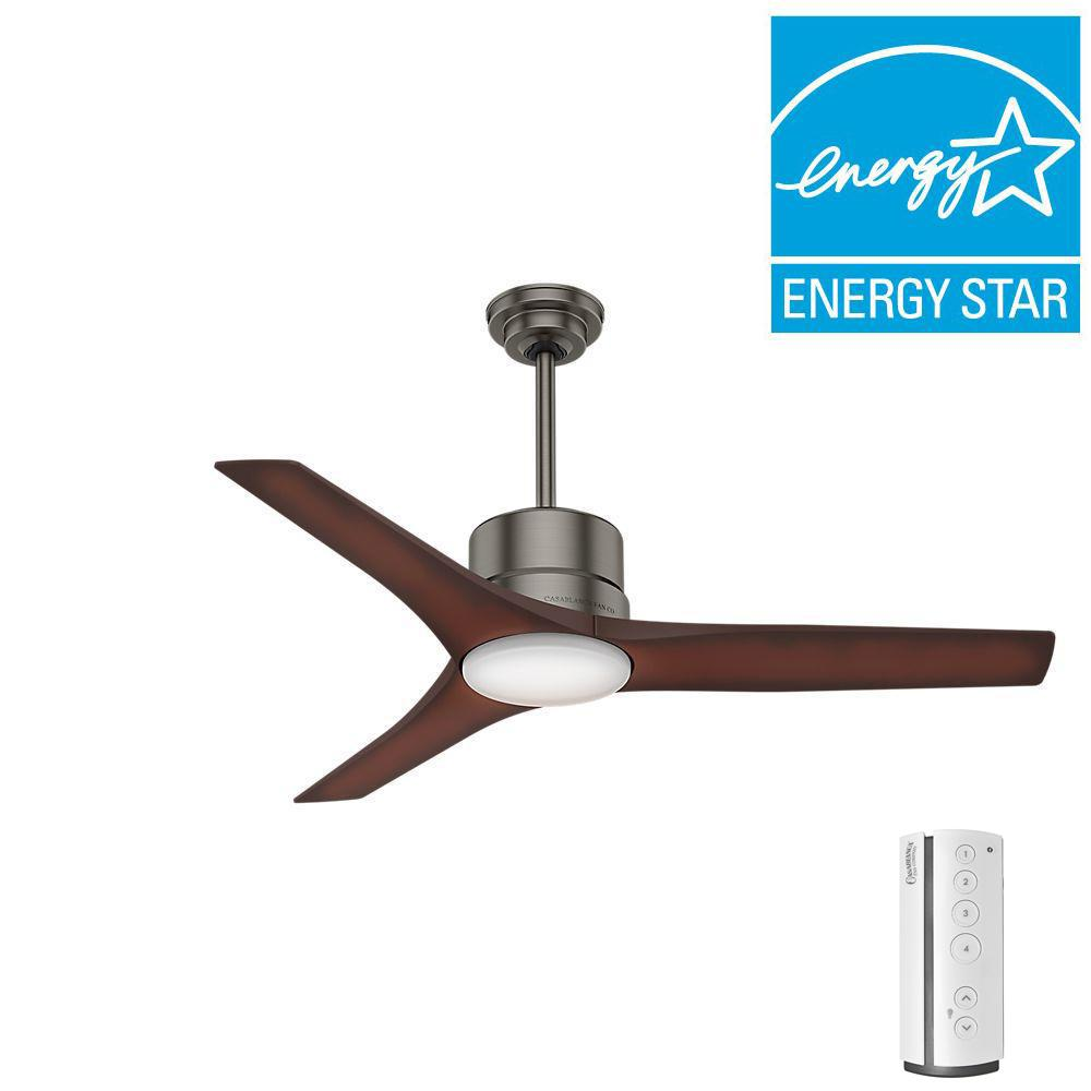 LED Indoor Outdoor Brushed Slate Ceiling Fan. Casablanca   Ceiling Fans   Lighting   The Home Depot