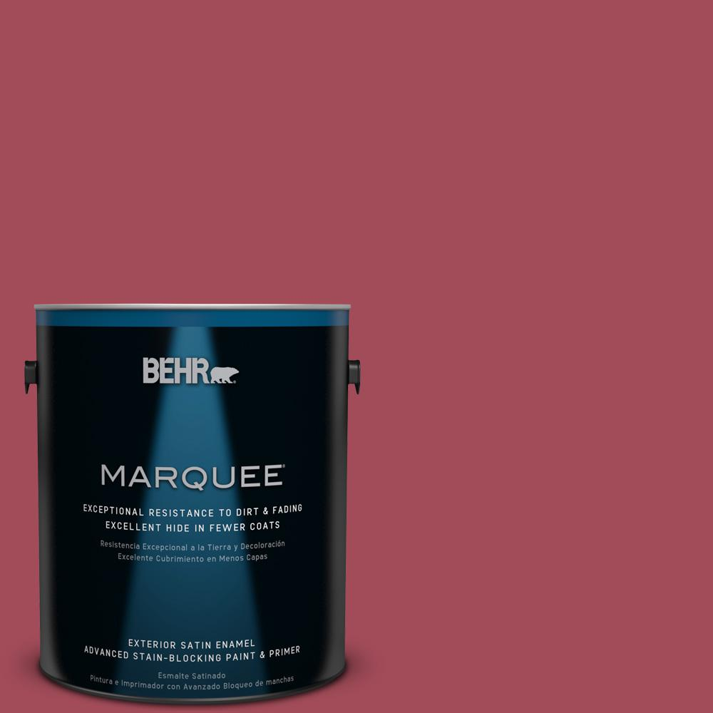 BEHR MARQUEE 1-gal. #130D-6 Sweet Spiceberry Satin Enamel Exterior Paint