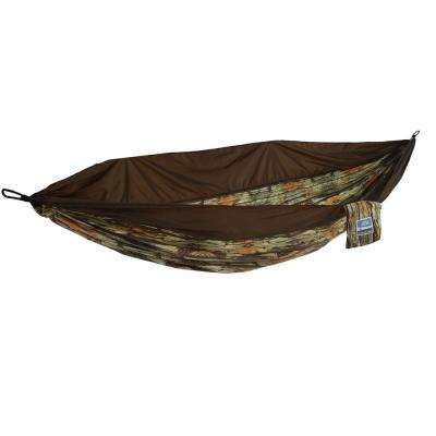 2-Person Wood Grain Travel Hammock