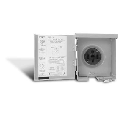 GE Energy Industrial Solutions U054P Midwest Electric Outdoor Raintite Receptacl