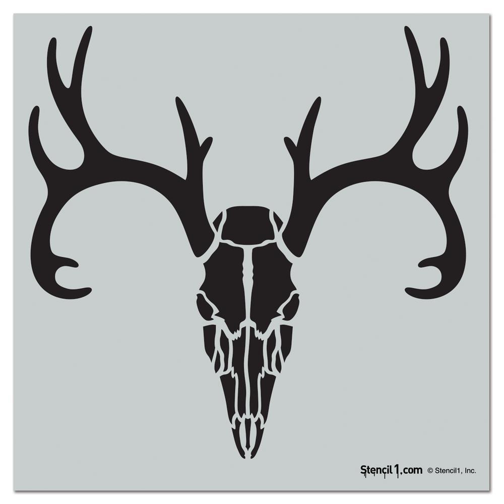 stencil1 deer skull repeat pattern stencil s1 pa 87 the home depot